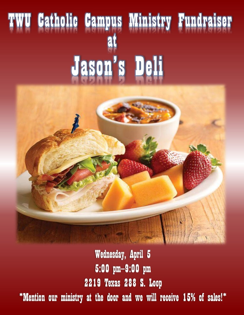 Jason's Deli Fundraiser Flyer